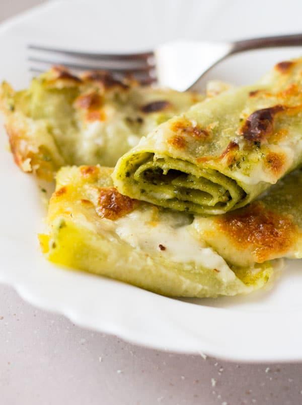 pesto-provolone-cannelloni-pasta-insidetherustickitchen