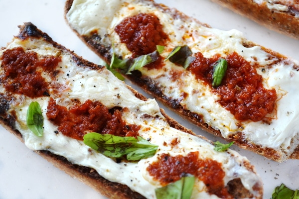 Cream cheese and nduja bruschetta www.insidetherustickitchen.com 2
