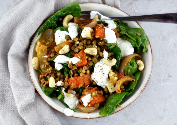 Squash, lentil and feta salad 3www.insidetherustickitchen.com