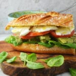 An easy and simple recipe for chicken pesto ciabatta. Delicious, juicy chicken dressed in a beautiful pesto sauce on crunch, fresh ciabatta bread.