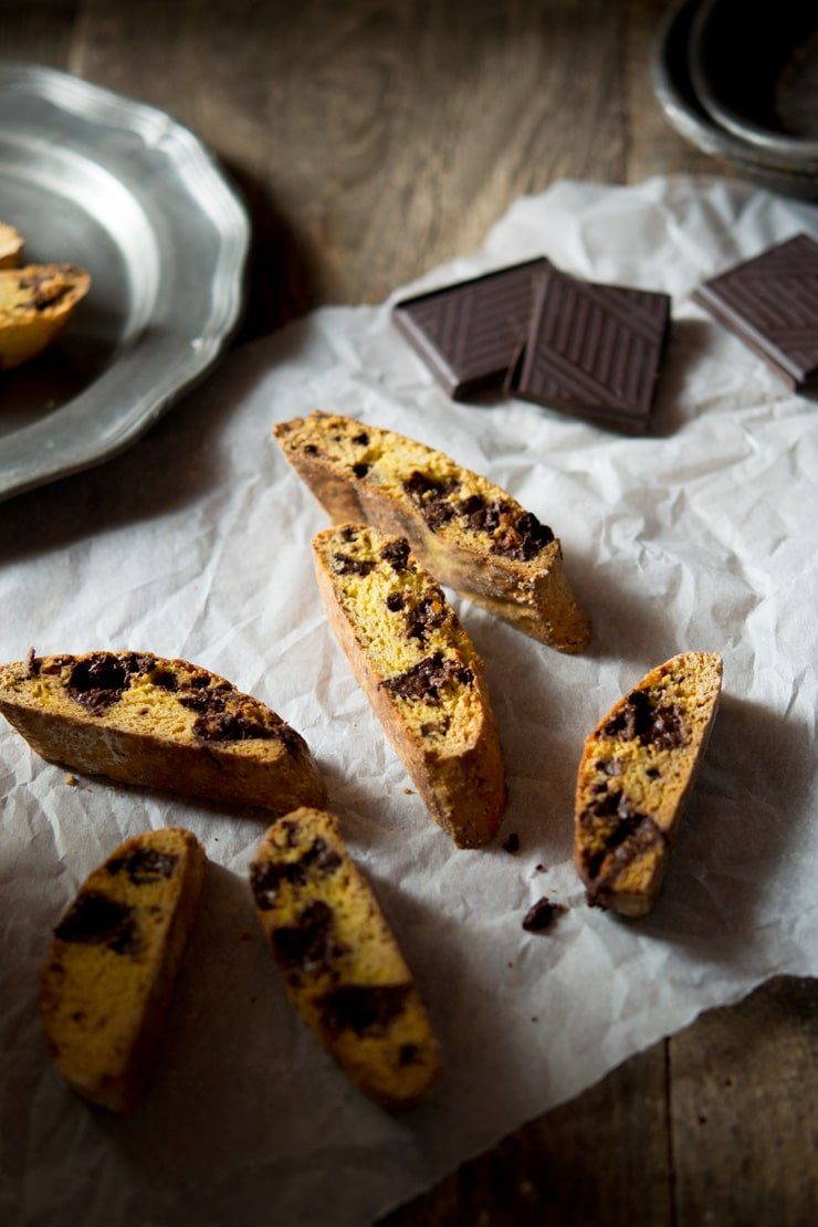 Orange Chocolate Cantucci Biscuits - Inside The Rustic Kitchen