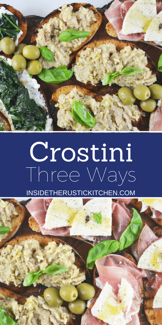 crostini three ways www.insidetehrustickitchen.com