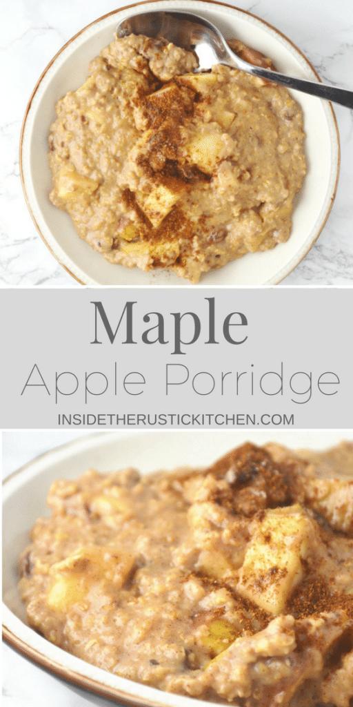 maple apple porridge www.insidetherustickitchen.com