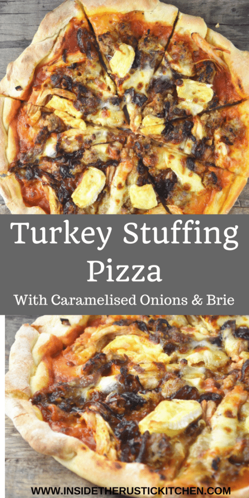 turkey stuffing pizza www.insidetherustickitchen.com