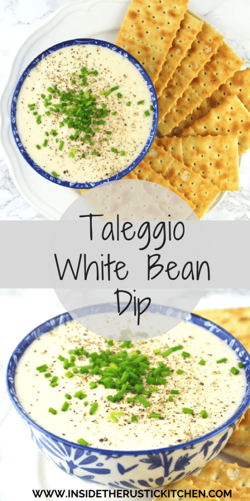 Taleggio White Bean Dip - Inside The Rustic Kitchen