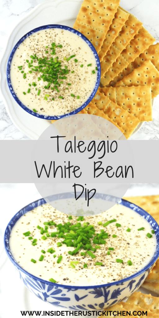 Taleggio White Bean Dip www.insidetherustickitchen.com PIN