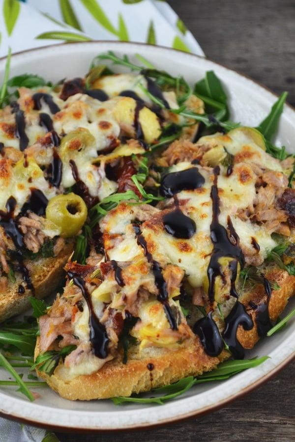 Mediterranean Tuna Melt www.insidetherustickitchen.com