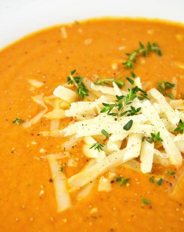 Roasted Vegetable Soup www.insidetherustickitchen.com