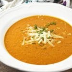This Roasted Vegetable Soup is packed full of delicious flavour, made from roasted squash, red pepper, eggplant and garlic. www.insidetherustickitchen.com