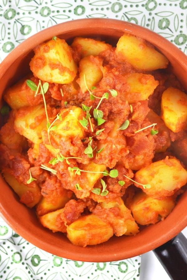 Patate Rifatte - an Italian potato side dish www.insidetherustickitchen.com