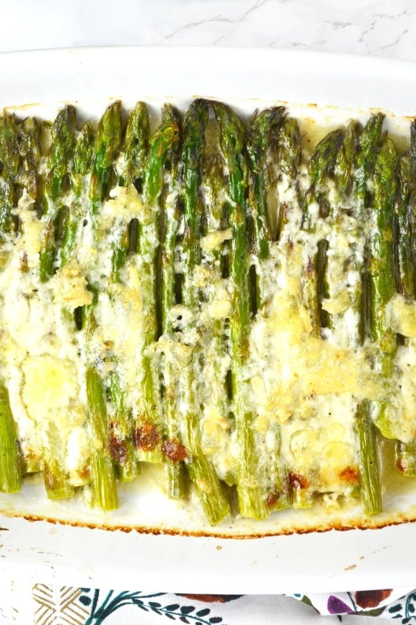 roasted asparagus and gorgonzola insidetherustickitchen.com
