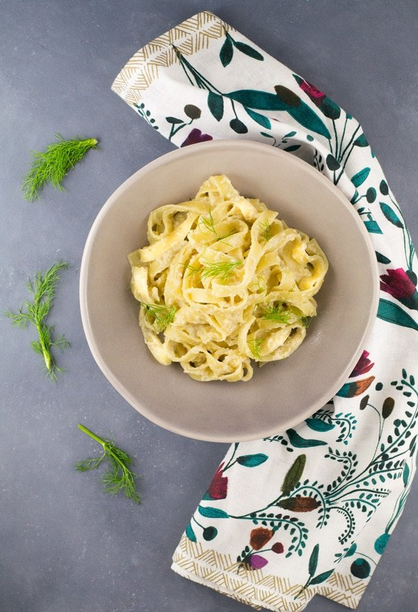 Creamy fennel pasta insidetherustickitchen.com