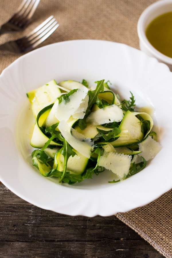 Zucchini Ribbon Salad - Inside The Rustic Kitchen