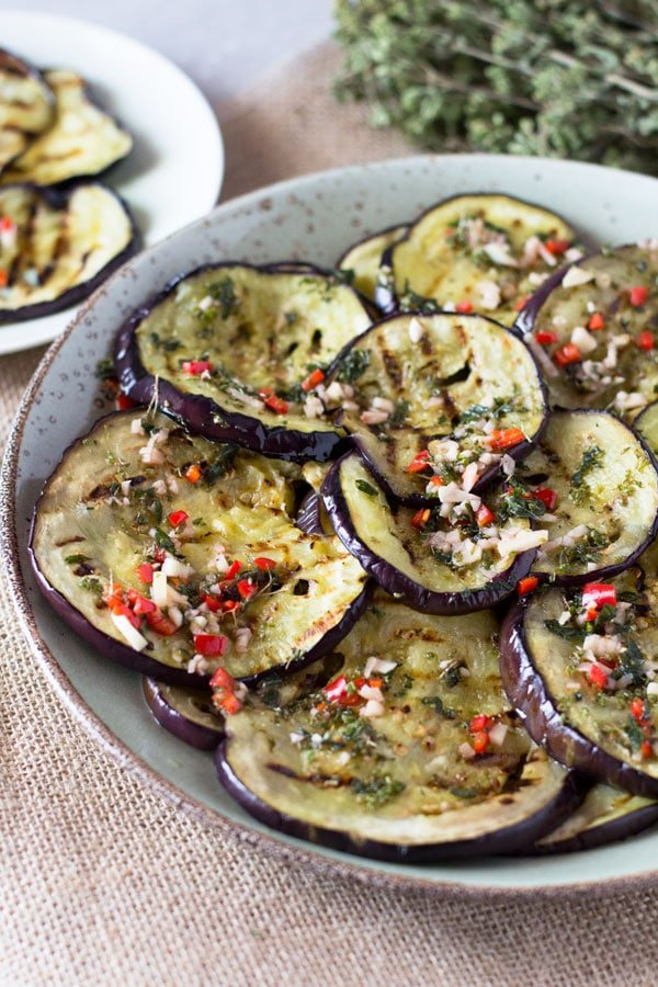 Italian Marinated Eggplant - Inside The Rustic Kitchen
