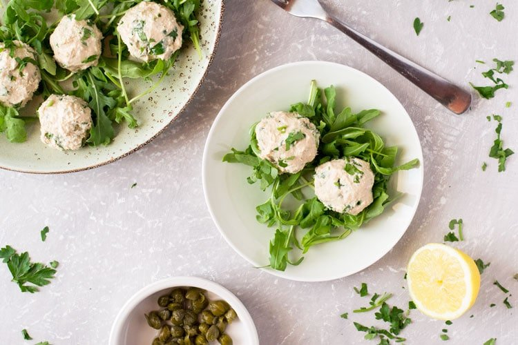 Italian Tuna Balls with Lemon and Capers