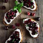 Whipped Ricotta Toast with Balsamic Cherries