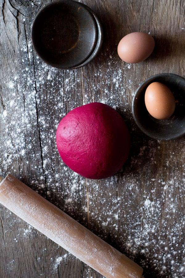 Beetroot pasta dough recipe