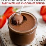 A pinterest graphic for homemade nutella