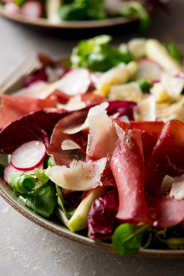 Bresaola salad with apple and radicchio insidetherustickitchen.com