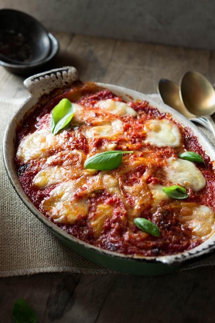 Parmigiana di melanzane eggplant parmigiana recipe inside the rustic kitchen