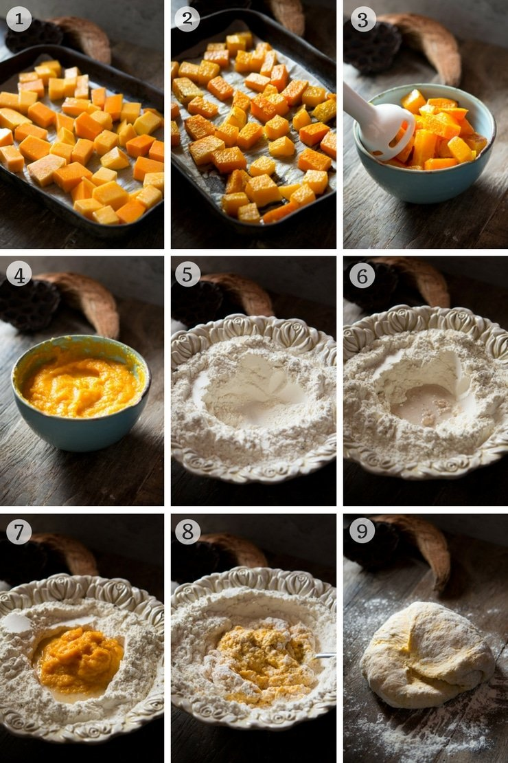 step by step photos on how to make pumpkin bread rolls