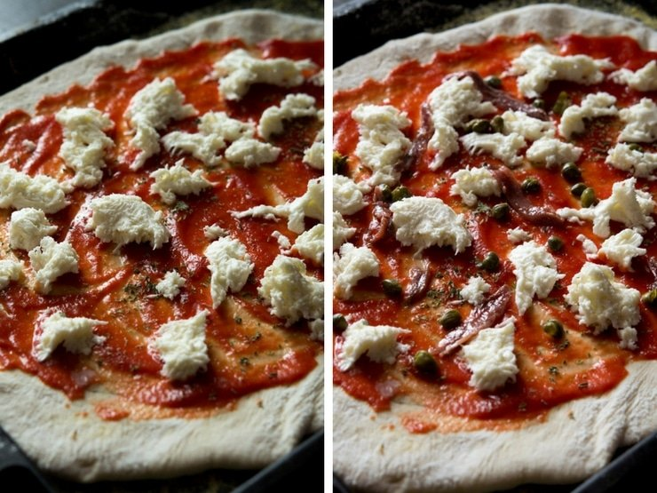 How to make anchovy pizza step by step photos