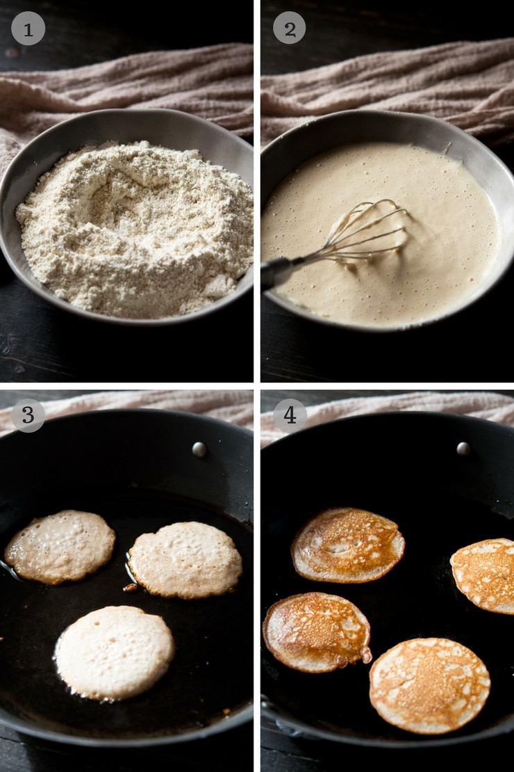 step by step photos for making chestnut fritters