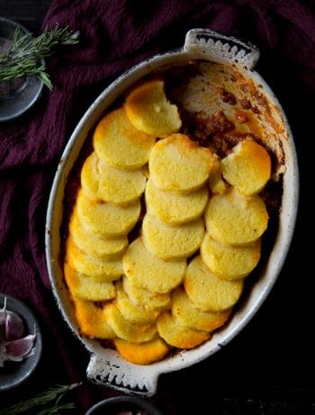 baked polenta with ragu