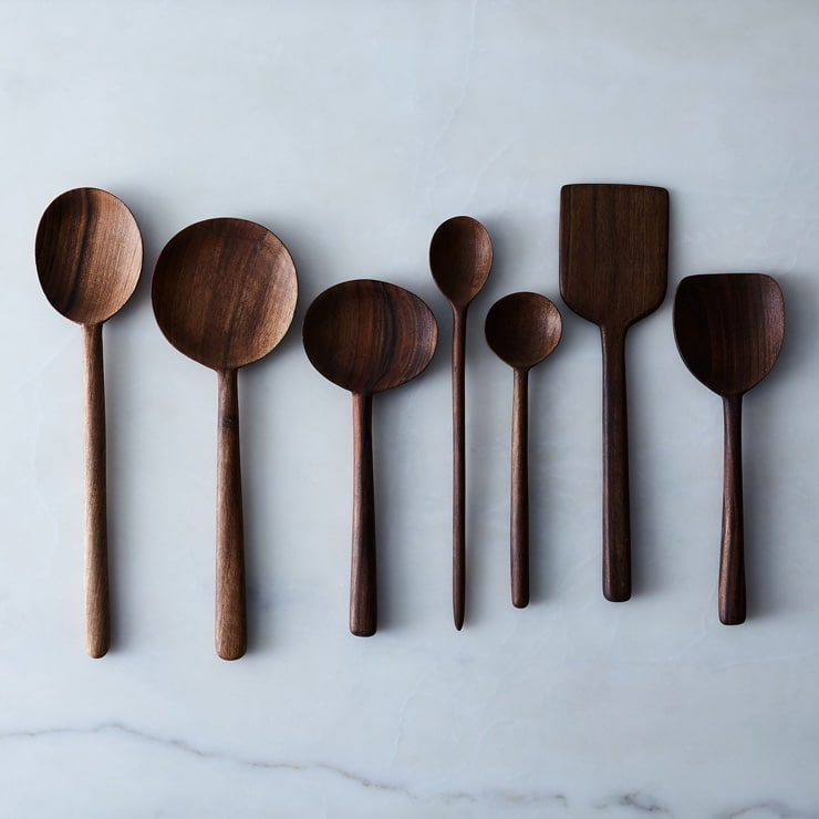 wooden spoons for last minute foodie gift guide photo inside the rustic kitchen