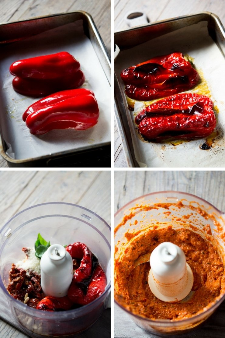step by step photos for making sun dried tomato pasta