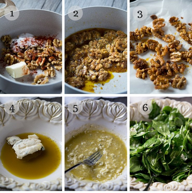 step by step photos for making a winter salad dressing