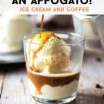 A pinterest graphic of an affogato
