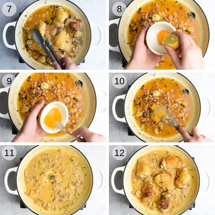 Step by step photos for making creamy tuscan chicken without cream