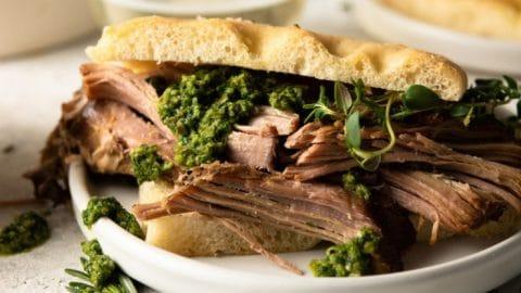 Italian Slow Cooker Pulled Pork Shoulder