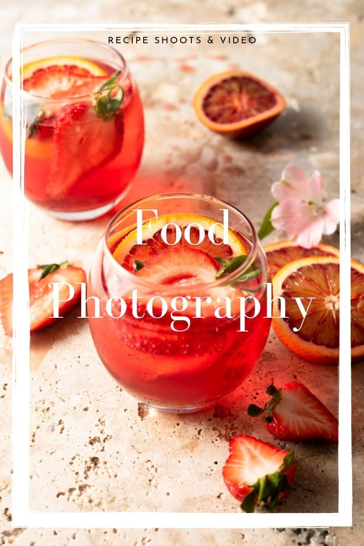 A graphic for food photography services