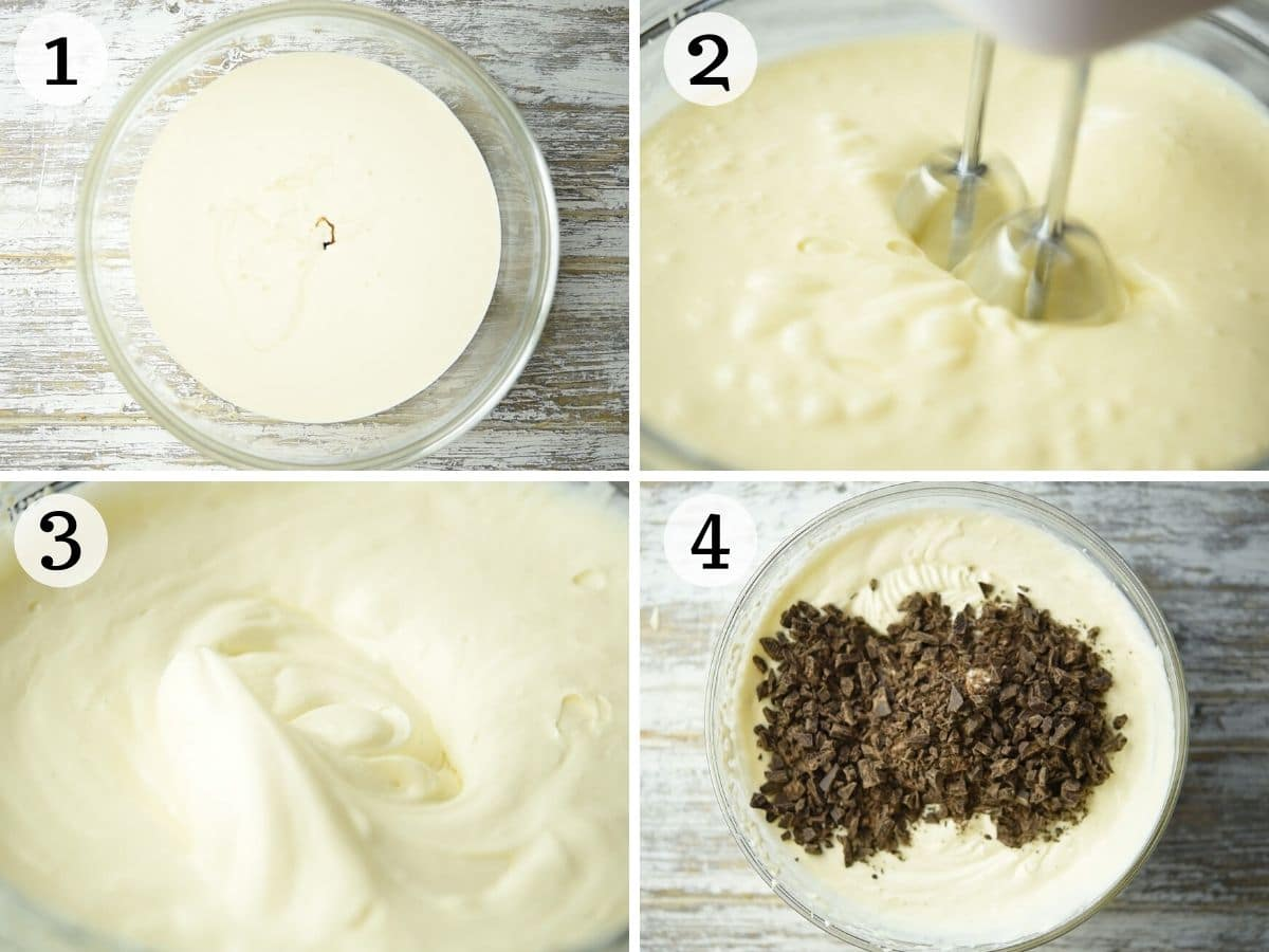 Step by step photos showing how to make Stracciatella gelato