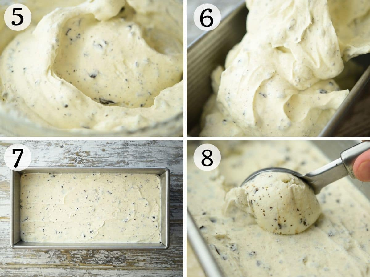 Step by step photos what gelato looks like before and after freezing