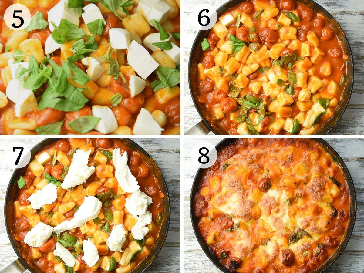 Step by step photos showing how to make Gnocchi alla Sorrentina