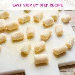 A pinterest graphic of potato gnocchi