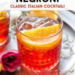A Pinterest graphic of a Negroni cocktail