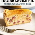 A pinterest graphic of Pizza Rustica