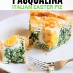 A pinterest graphic of torta pasqualina